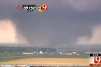 Tornado rips through Oklahoma City suburb